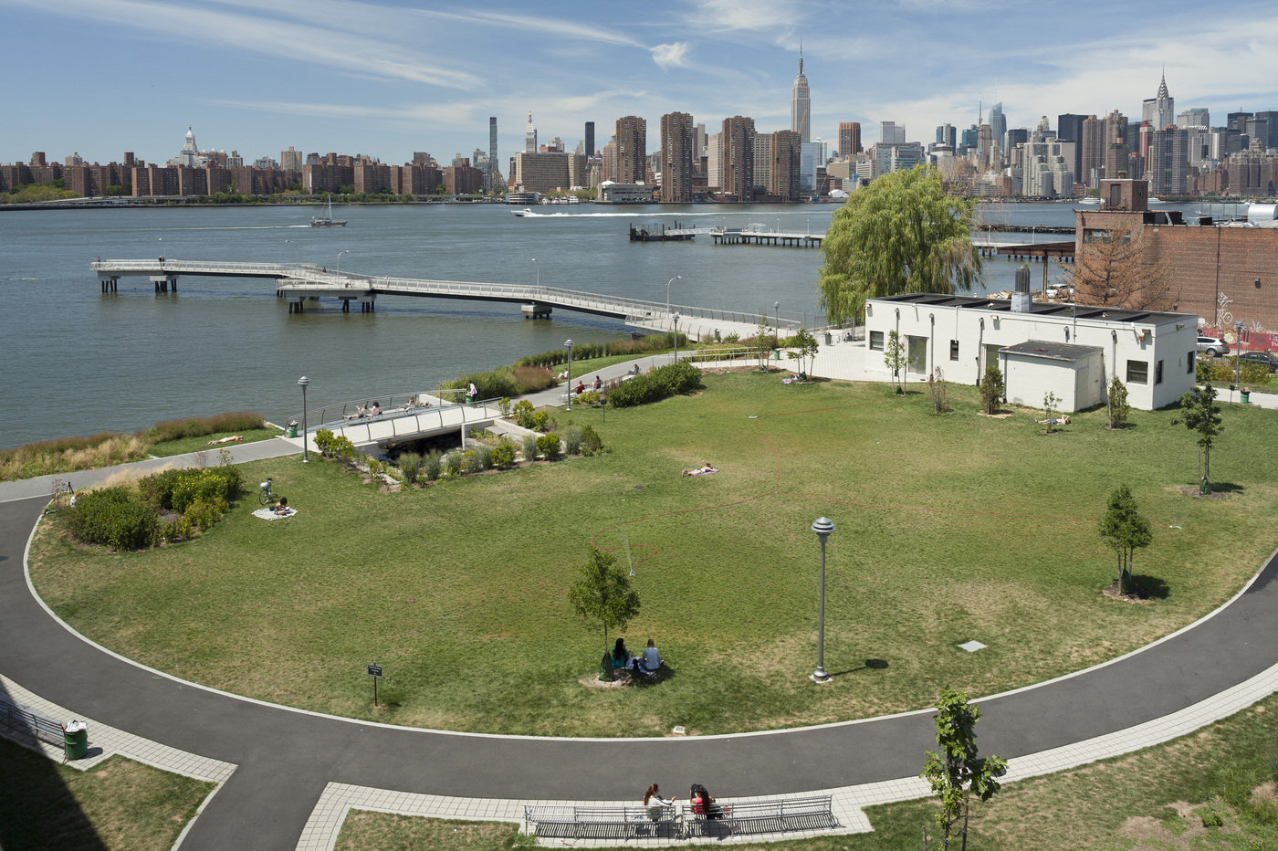 Aerial View of WNYC Transmitter Park